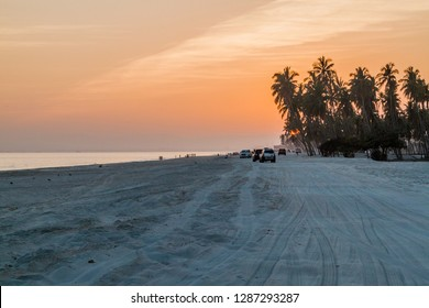 Sunset at the beach in Salalah, Oman