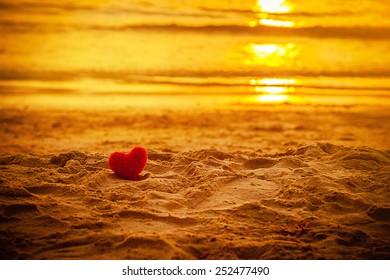 sunset beach under warm light. abstract background love summer on the beach.