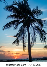 Sunset at the beach    Views around the Caribbean Island of Curacao in the Netherland Antilles