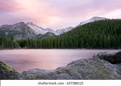 Sunset at Bear Lake, Rocky Mountain National Park