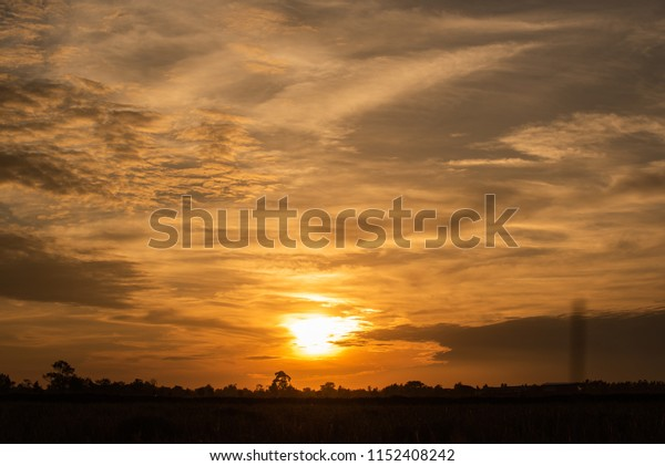 sunset and beautiful clouds