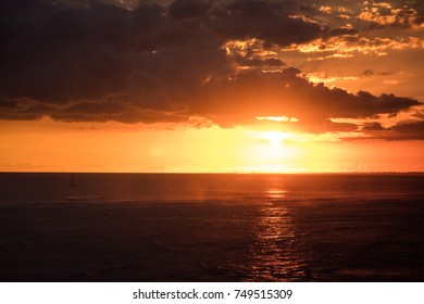 sunset beautiful colorful sky