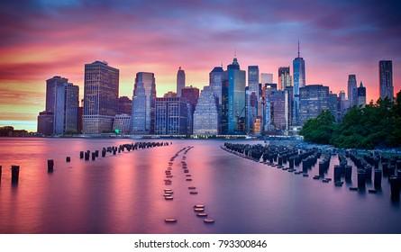 Sunset Behind Manhattan