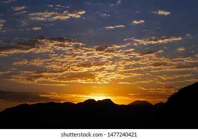 Sunset behind the mountains, Rio de Janeiro, Brazil