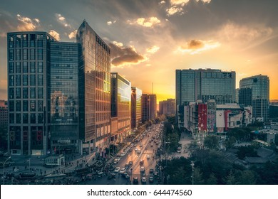Sunset of Beijing Zhongguancun