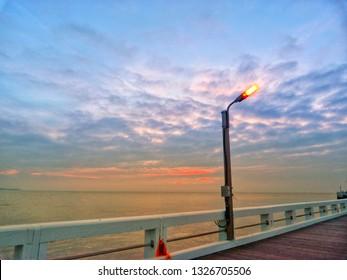 Sunset at Belgian coast