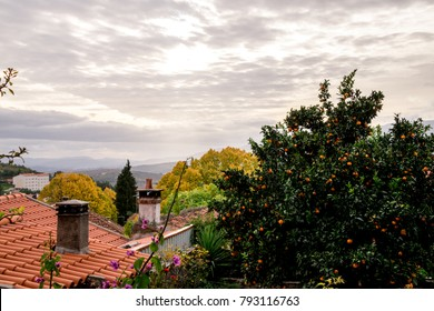 Sunset in Belmonte (Beautiful mountain) is a municipality in the district of Castelo Branco, Portugal