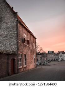 Sunset in Bergen op Zoom, the Netherlands