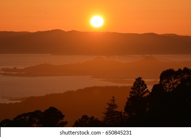 Sunset in Berkeley on April 29, 2017, California USA