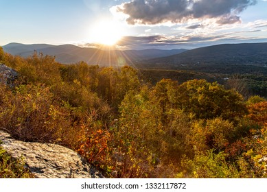 Sunset in the Berkshires along the Mohawk Trail close to Williamstown