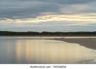 sunset at Bibione beach