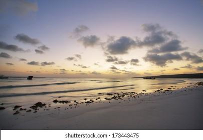 Sunset in Bira beach, South Sulawesi, Indonesia