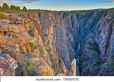 Sunset at Black Canyon of the Gunnison National Park. at Black Canyon of the Gunnison National Park.