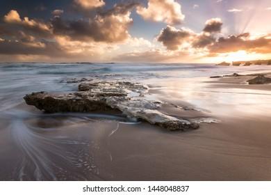 Sunset at Blairgowrie back beach on the Mornington Peninsula.