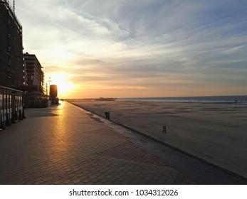 A sunset in Blankenberge, Belgium