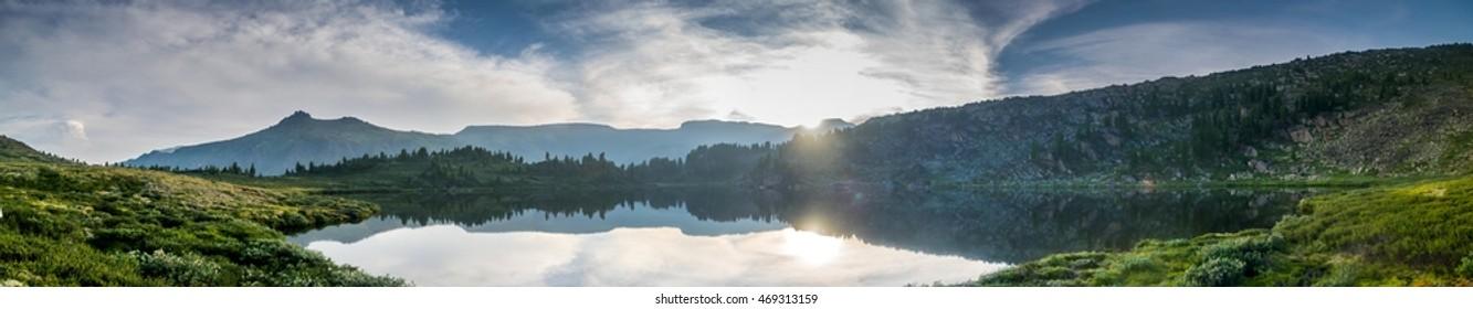 Sunset at Blue Mountain Lake