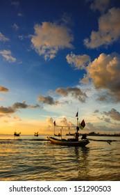 Sunset Boat at Koh Samui Thailand