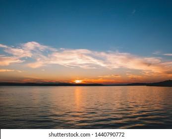 Sunset at Bodensee lake, Lake Constance