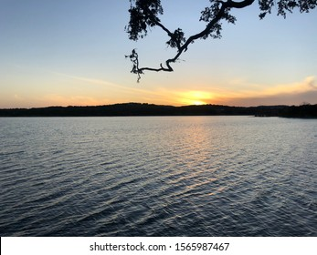 Sunset at Boerne Lake City Park