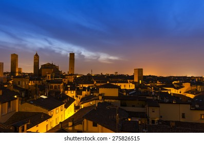 Sunset in Bologna, Italy