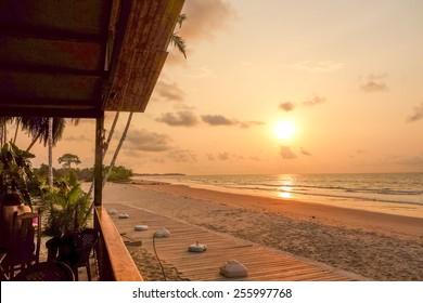 Sunset at Bome beach in Bata in Equatorial Guinea