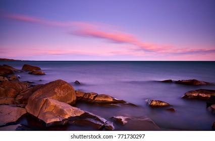 Sunset at Brighton Beach, Duluth, Minnesota