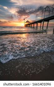 Sunset at Brighton jetty, Adelaide, South Australia