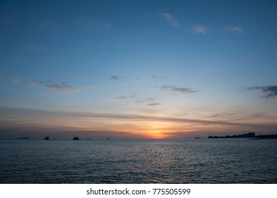 Sunset by the beach in Malaysia