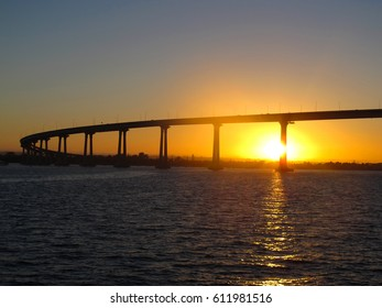 Sunset by Coronado bridge