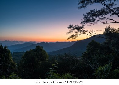 Sunset by the mountains of Ruteng Flores, Indonesia