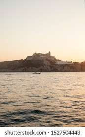 Sunset by the sea close to Ibiza's old town