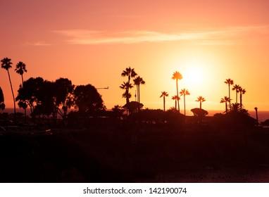 Sunset in California, La Jolla