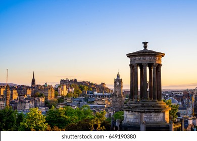 Sunset at Calton Hill Edinburgh city