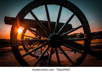 Sunset from a canon