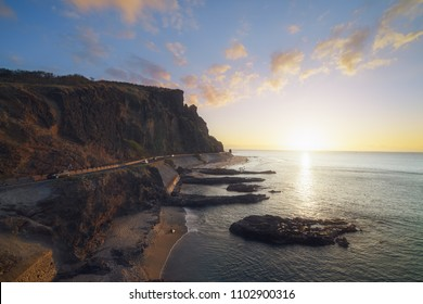 Sunset  at Cap La Houssaye in Saint-Paul, Reunion Island