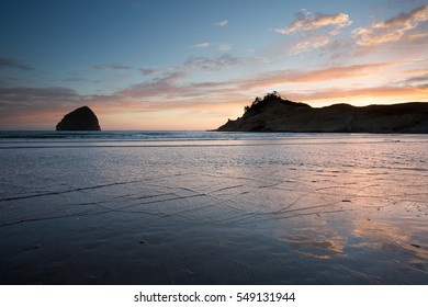 Sunset at Cape Kiwanda, Oregon coast