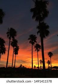 Sunset captured in Galveston, Texas