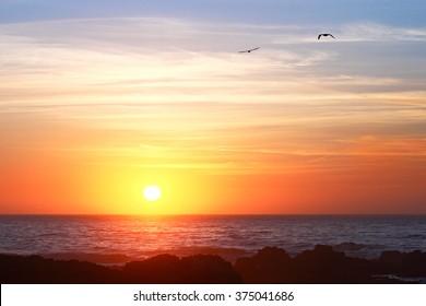 Sunset at Carmel - CA