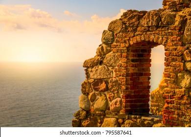 Sunset - Castle Hammershus - Bornholm, Denmark