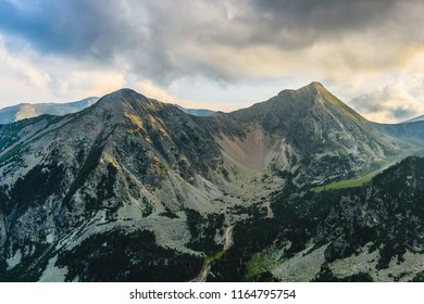 Sunset in the Catalan Pyrenees Mountains (Peak of Gra de Fajol)