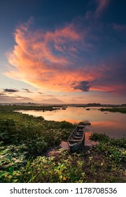 Sunset in Cengklik Reservoir Boyolali Central Java Indonesia