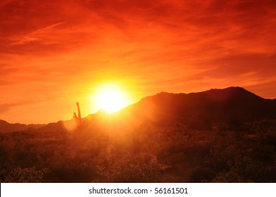 Sunset in Central Arizona