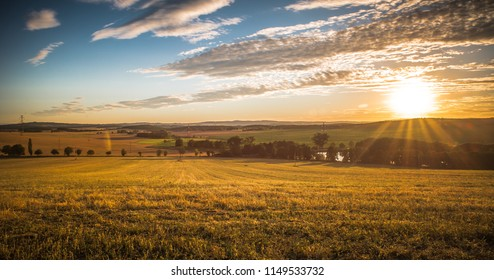 Sunset in Central Europe
