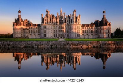 Sunset at Chambord Castle