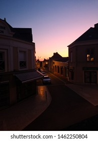 Sunset in the charming town of Evron
