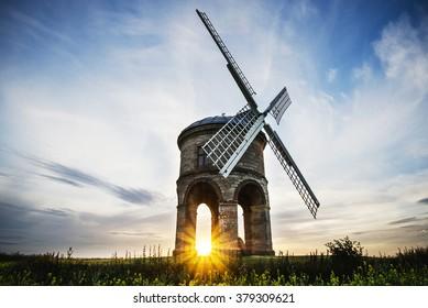 Sunset at Chesterton windmill, Warwickshire.