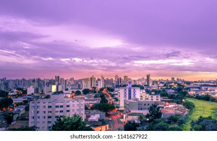 Sunset in the city of Campinas, SP/Brazil