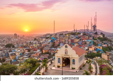 Sunset in the city of Guayaquil