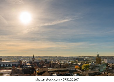 Sunset Cityscape of Northampton UK