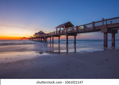 Sunset at Clearwater Beach Pier Florida